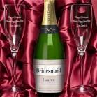 Personalised Cava and Engraved Flutes