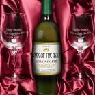 Personalised White Wine and Engraved Glasses