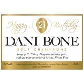 Balloon - Personalised Birthday Champagne Label