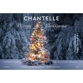 Tree Lights Personalised Christmas Red Wine Label