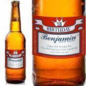 Red Square Style Personalised Beer