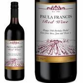 Traditional Personalised Red Wine - Vineyard Label