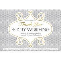 'Circles' Thank You - Personalised Champagne Label