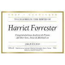 New Baby - Personalised Champagne Label