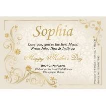 Golden - Personalised Mother's Day Champagne Label