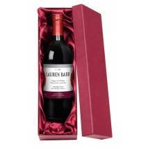 Red Flowers - Personalised Red Wine