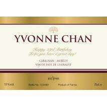 Gold Label - Personalised Red Wine