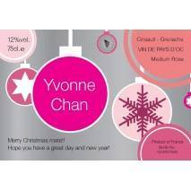 Christmas Label - Personalised Rosé Wine Label