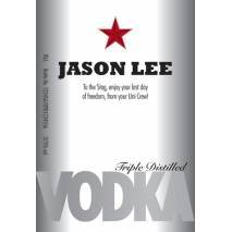 Premium Star - Personalised Vodka Label