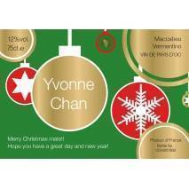 Christmas Label - Personalised White Wine Label