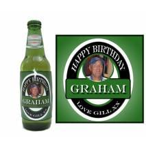 Personalised Photo Beer Bottle Label