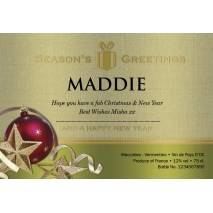 Christmas Baubles - Personalised White Wine