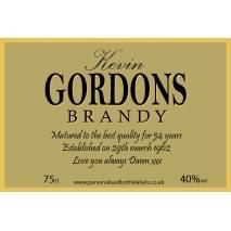 Personalised Brandy Bottle Label