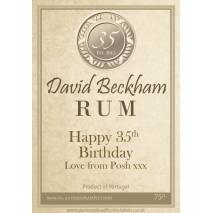 Personalised Rum Bottle Label