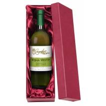 Personalised Corporate White Wine - Ribbon Design