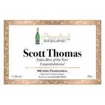 Personalised Cava with 'Framed' Corporate label