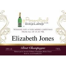 Corporate 'Gold' design Personalised Champagne