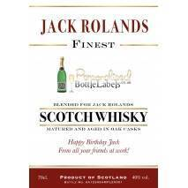 'Traditional' Whisky Blend with Personalised Message