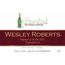 Personalised Corporate Red Wine - Ribbon Design