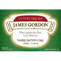 Personalised Father's Day bottle of Beer