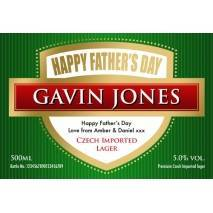 Personalised Father's Day bottle of Lager