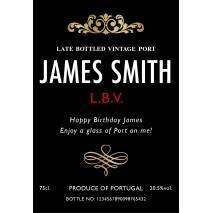 Personalised Port - Traditional Black Label