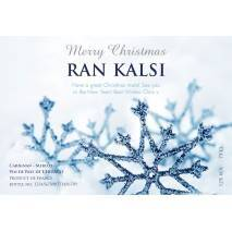 Winter Snow Personalised Christmas Red Wine Label