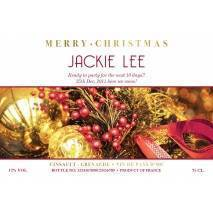 Decorations Personalised Christmas Rosé Wine Label