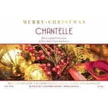 Decorations Personalised Christmas Champagne Label