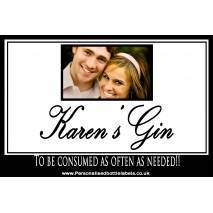 Personalised Photo Gin Bottle Label