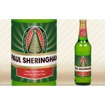 Personalised Bottle of Christmas Lager