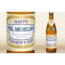 Personalised Father's Day bottle of Wheat Beer
