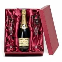 "Personalised ""Happy Anniversary"" Champagne & Flutes"