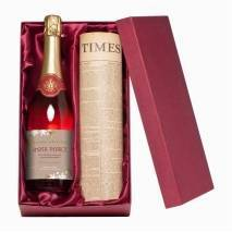 Personalised Sparkling Rose with a Newspaper of your date
