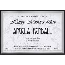 Personalised Prosecco - Mother's Day Elegant Label