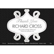 Personalised Prosecco - Thank You Squares Label
