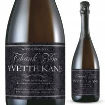Personalised Prosecco - Thank You Floral Label