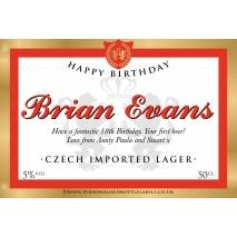 Personalised Czech Imported Lager Label For Any Occasion