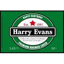 Personalised Dutch Lager Label For Any Occasion