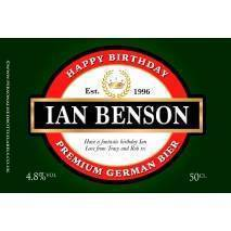 Personalised German Beer Label For Any Occasion