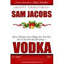 Personalised Christmas Vodka Label