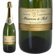 Personalised Golden Anniversary Champagne & Date