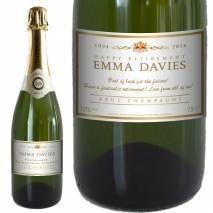 Personalised Retirement Champagne - Classic