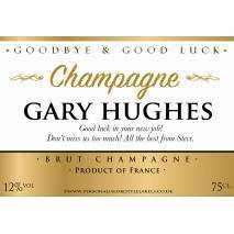 Personalised Goodbye Good Luck Champagne Label