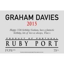 Personalised Traditional Grey Ruby Port Label