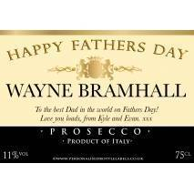 Personalised Fathers Day Prosecco Label