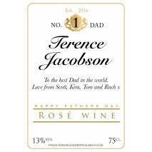Personalised Fathers Day Rosé Wine Label