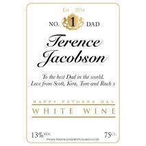 Personalised Fathers Day White Wine Label