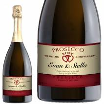 Personalised Ruby Anniversary Prosecco