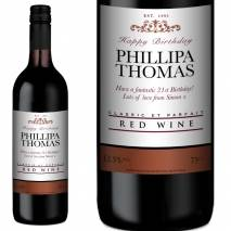 Personalised Red Wine - Any Occasion
